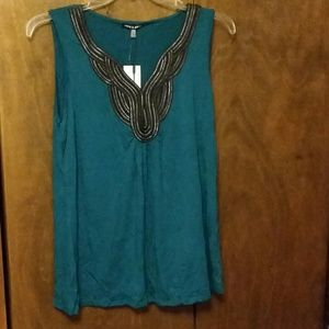 NWT CABLE & GAUGE RAINFOREST ADORNED TOP